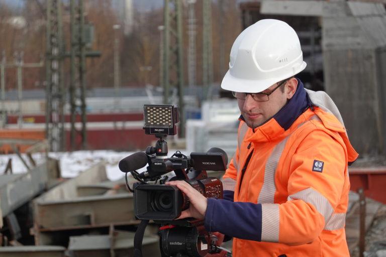 ratisbona media baudokumentation regensburg baustelle architekt video